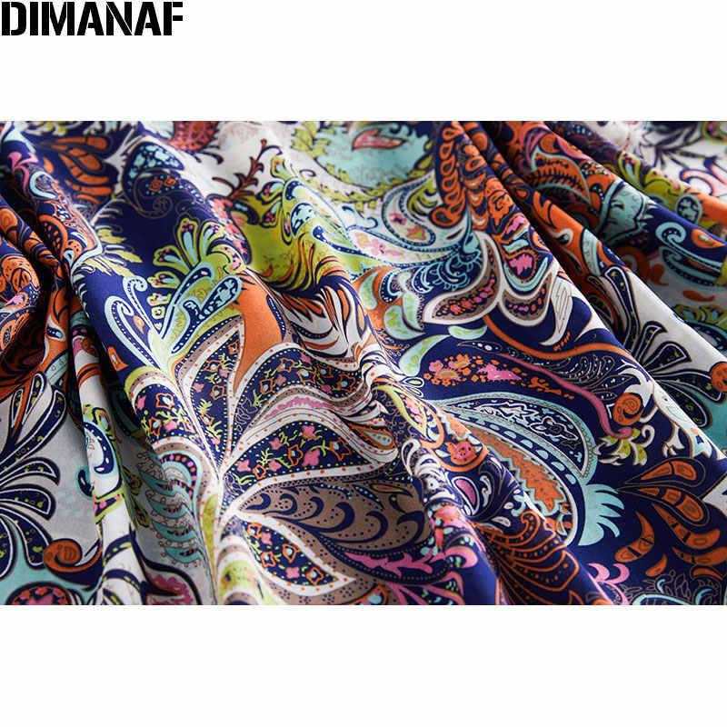 DIMANAF-chemisier femme grande taille, tunique en mousseline de soie imprimée, tunique surdimensionnée manches chauve-souris, vêtements féminins d'été montre de sport