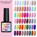 Clou Beaute 8 мл УФ-гель для ногтей цветной гель для ногтей замачиваемый Светодиодный УФ-Гибридный Гель-лак замачиваемый долговечный Гель-лак для...