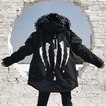 YParkas para hombre de chaqueta de invierno de abrigo con capucha de...