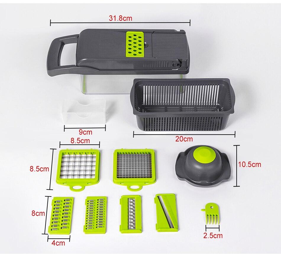 Onion Chopper Basket Vegetable Slicer Potato Multifunctional Grater Mandoline Cutter Kitchen Accessories Utensils Gadgets Items