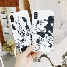Mickey Minnie mouse Donald de dibujos animados suave caso para iPhone 6 6Plus 6 6s 7 7Plus 8 X XS XR XS Max cubierta del teléfono shell(China)