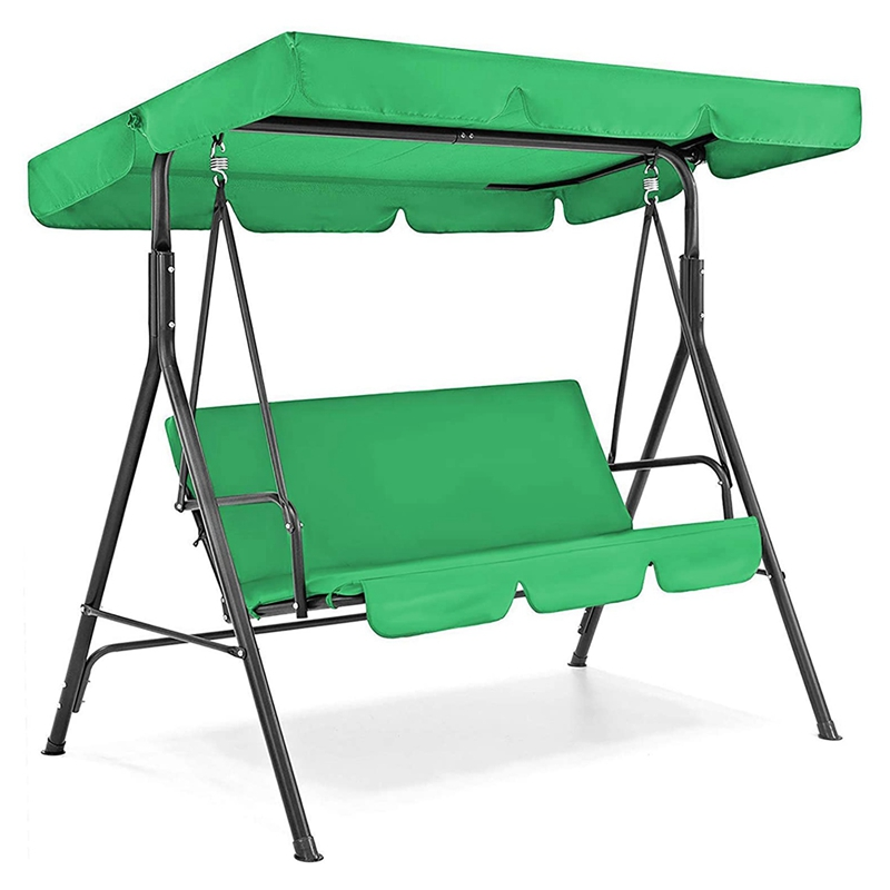 Canopy Swing Top Cover & Swing Seat Cover, 3 Seater Patio Swing Chair Canopy Top Cover for Garden Terrace Seat Hammock