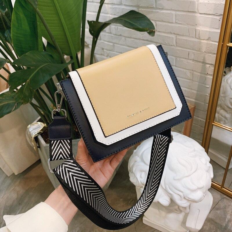 Летняя новинка, хит, цветная широкополосная маленькая сумка для женщин, 2019, новая модель Chaohan, 100, модная маленькая сумка