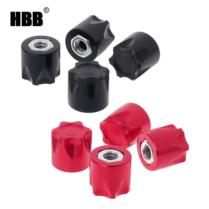 HBB 4PCS RC Car Wheel Rim Center Cap M4 Nut for 1/10 Crawler TRX4 Axial SCX10 Parts
