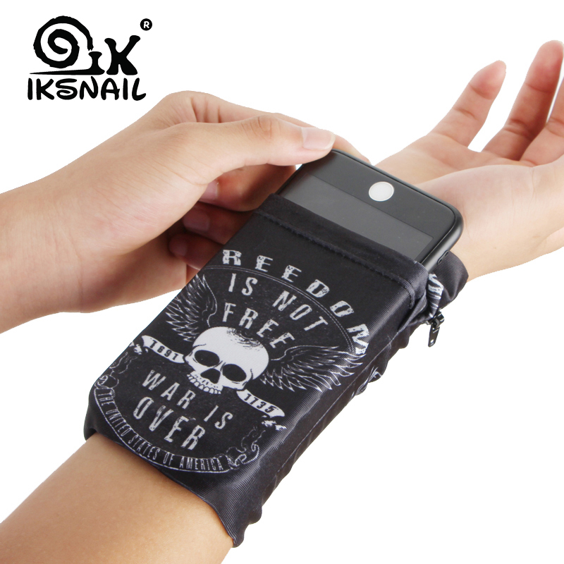 IKSNAIL 5.5 Running Bag Phone Wristband Fitness Wrist Pouch Pocket Basketball Sweatband Jogging Cycling Gym Arm Bag For IPhone