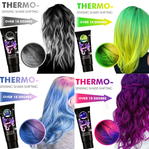 Thermochromic Color Changing Wonder Dye Mermaid Hair Dye Gray Hair Color Cream Thermo Sensing Shade Shifting Hair Color Wax