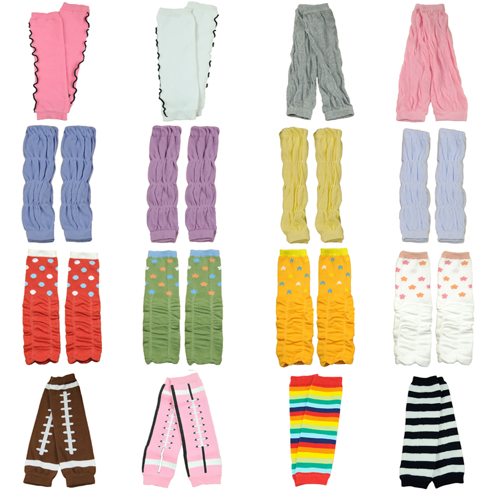 Baby Girl Kid Toddler Cute Polka Dots Arm Leg Warmers Warm Cotton Socks Tights WATXW0504