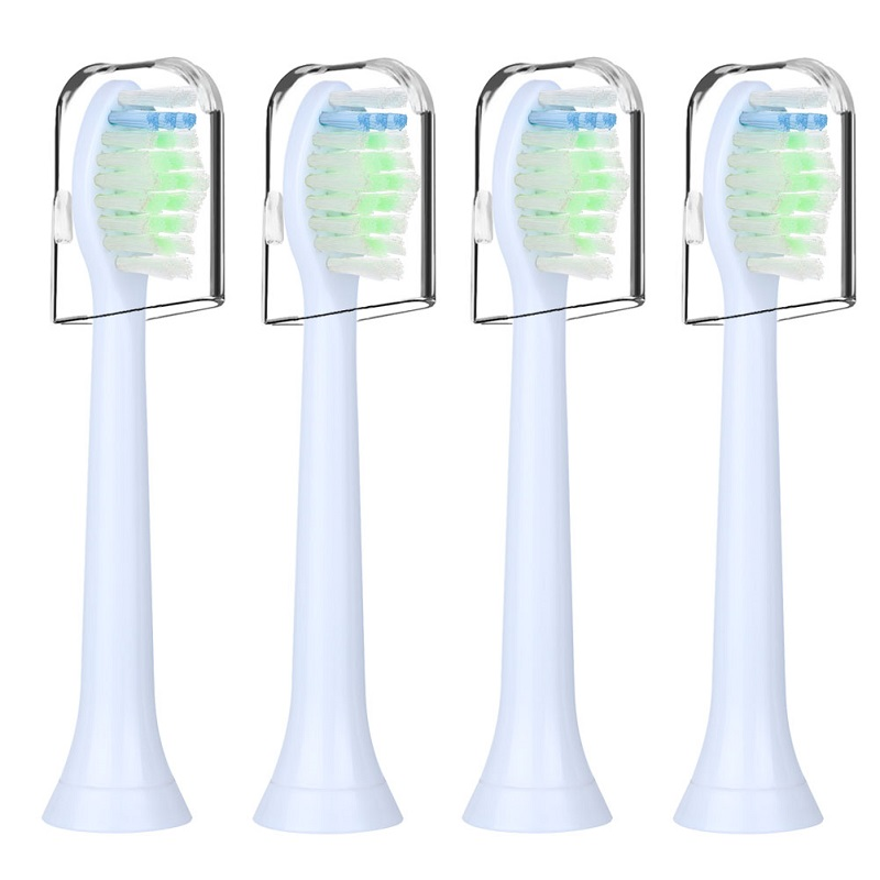 4pcs HX6064 Replacement Toothbrush Heads for Philips Sonicare Diamondclean Electric with Transparent Dust Cover