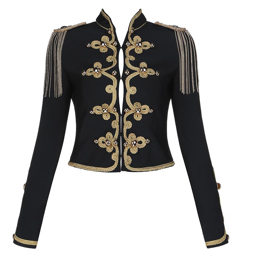 Chaqueta corta Retro mujer ropa Empire 2019 Otoño Invierno Lady Jacket Coat - 4
