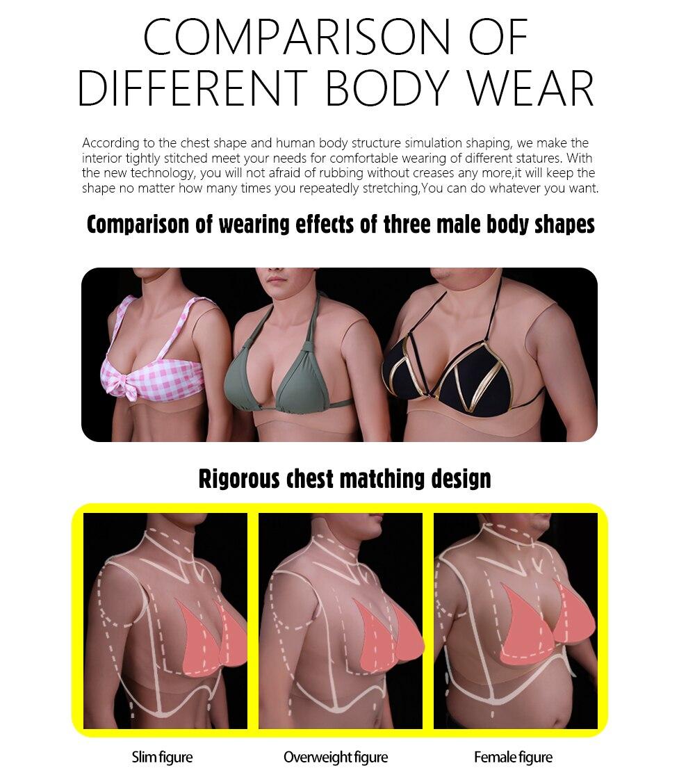 Fake boobs wearing Fake