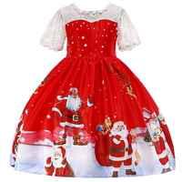 Meninas do bebê vestido de natal traje da princesa da menina de ano novo vestidos de festa crianças roupas infantis vestidos vermelho