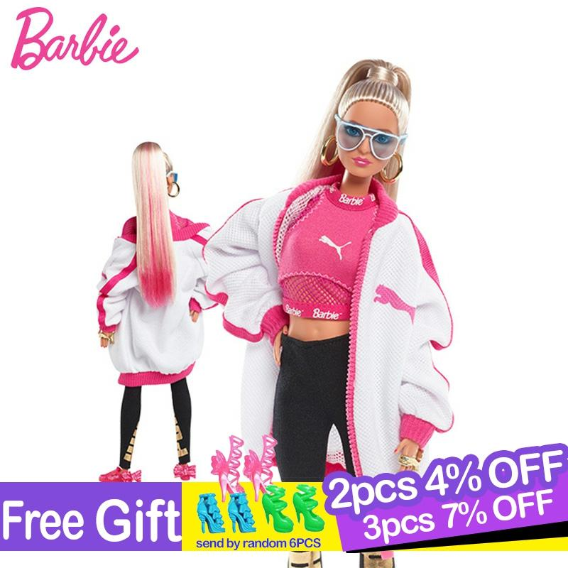 Original Barbie Sport Doll 22 Joints Move Limited Collection Fashionable Style Toys For Girl Birthday Gift Boneca American Dolls