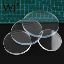 Transparent Acrylic Round Solid Block Doll Cosmetic Jewelry Display Stand Holder Pad Organizer Photograph Presentation Pedestal