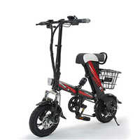 Smart Folding Electric Bike for adult Mini Electric Bicycle 12inch 36V 8AH 250W Motor With Double Disc Brakes 25km/h sctooer