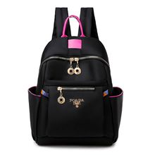 New Large-capacity Nylon Backpack Women's Fashion Trendy Light Wild Color Backpack One Pack Multi-purpose 2017 new fashion student letter ribbon nylon ultra light backbag large capacity leisure pure color female backpack