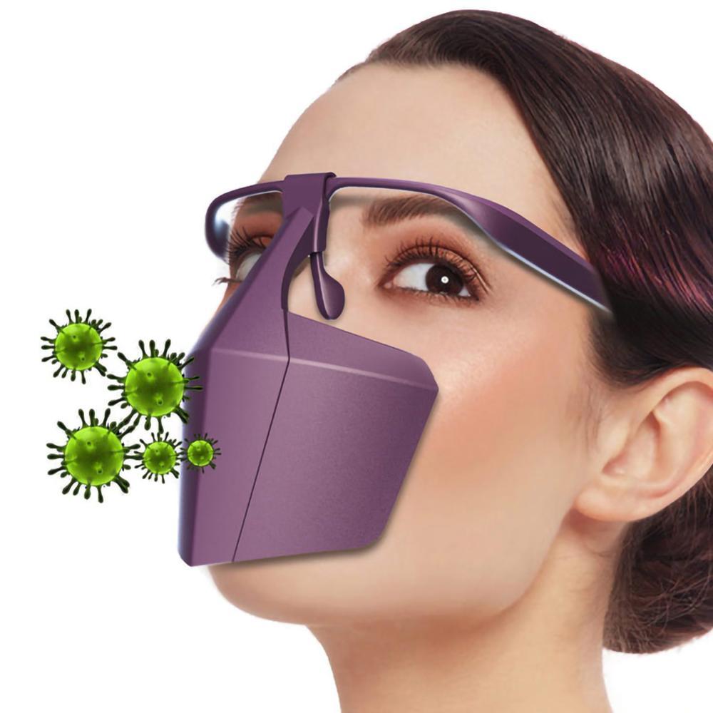 Protective Coronavirus Masks Face Shield Against Anti-fog Isolation face shield Breathable Reusable Protective Cover Dropship 1