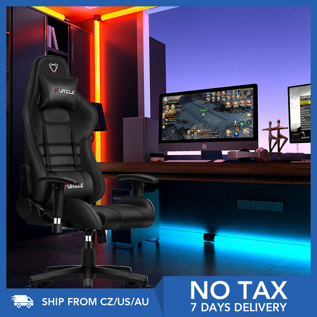 Furgle Office Chair Ergonomic Gaming Chair Computer Chair with Body-hugging Leather Boss Chair Armchair Office Chair for WCG