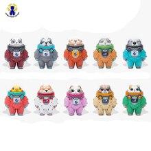 10 pçs/set novo espaço aventura boneca caixa cega mistério prêmio figuras brinquedos mini animal astronauta conjunto figuras de ação modelo crianças brinquedo