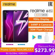 realme 6 Pro 6pro 8GB RAM 128GB ROM Global Version Mobile Phone
