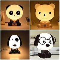 Panda/lapin/chien/ours bébé veilleuse enfants dessin animé Animal 3D lampe enfants chambre jouets cadeaux humeur lumière décoration livraison directe
