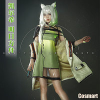 Game Arknights Kal'tsit RHODES ISLAND Uniform Cosplay Costume With ear Halloween Costume For Women Men Outfit New