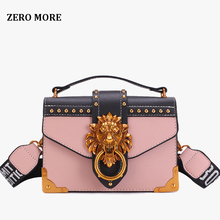 2019 Bags for Women Lion Metal&Leather Handbags Luxury Women Bags Designer Famous Brands Ladies Shoulder Bag Sac A Main
