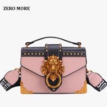 2019 女性のためのライオンメタル & レザーハンドバッグ高級女性のバッグデザイナーの有名なブランドの女性のショルダーバッグ嚢メイン