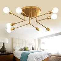 Smuxi lampy sufitowe nowoczesne LED sypialni domu pokój dzienny z kutego żelaza sufitu wisząca lampa 220V E27 (żarówka nie jest wliczony w cenę) w Oświetlenie sufitowe od Lampy i oświetlenie na