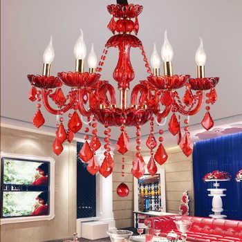 Red chandelier living room Bedroom Kitchen island wedding chandeliers lustre de cristal Indoor home large Chandelier Lighting - DISCOUNT ITEM  30% OFF All Category
