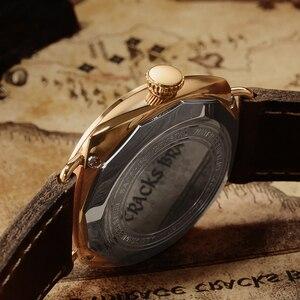Image 5 - Часы San Martin из бронзы, деловые повседневные Простые мужские кварцевые часы с кожаным ремешком, светящиеся водонепроницаемые до 200 м