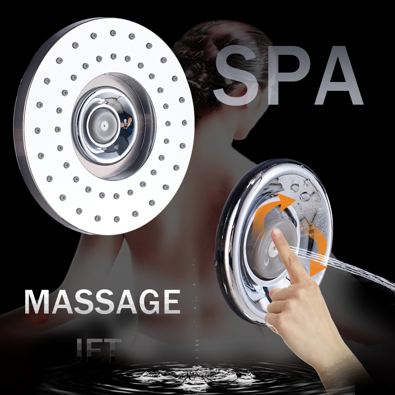 H70de366fc069413796c8697bc71eeaf66 Black LED Light Shower Faucet Bathroom SPA Massage Jet Shower Column System Waterfall Rain Shower Panel Bidet Sprayer Tap
