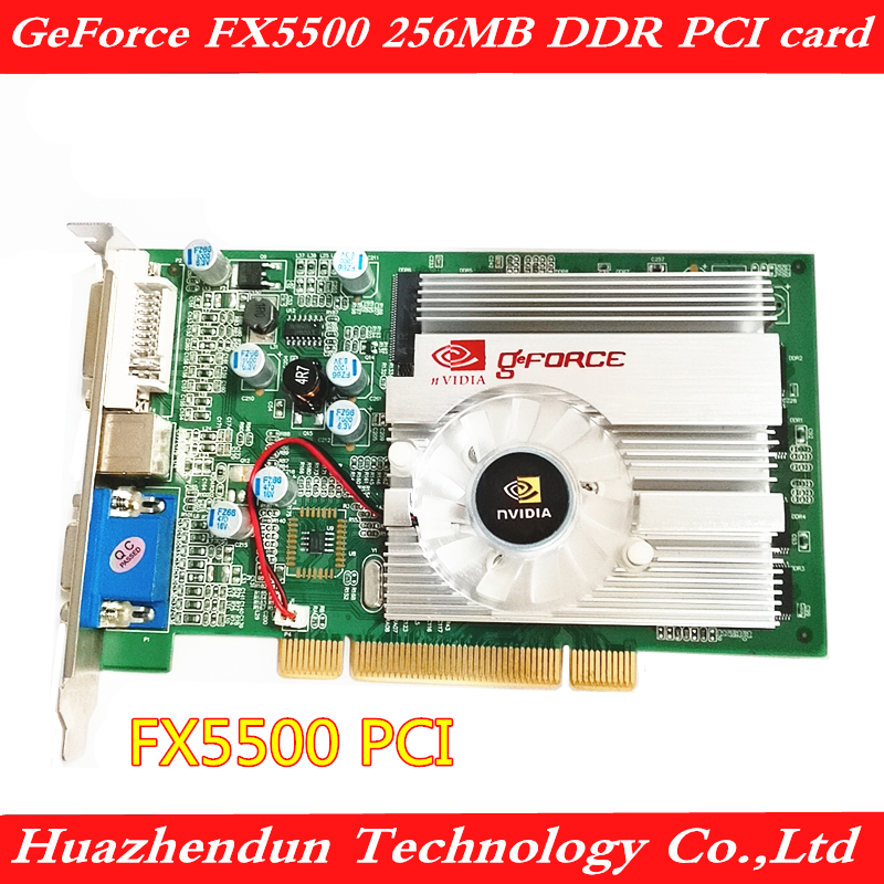<font><b>FX5500</b></font> <font><b>PCI</b></font> graphics card 256M DVI+VGA+S-video output Support dual screen image