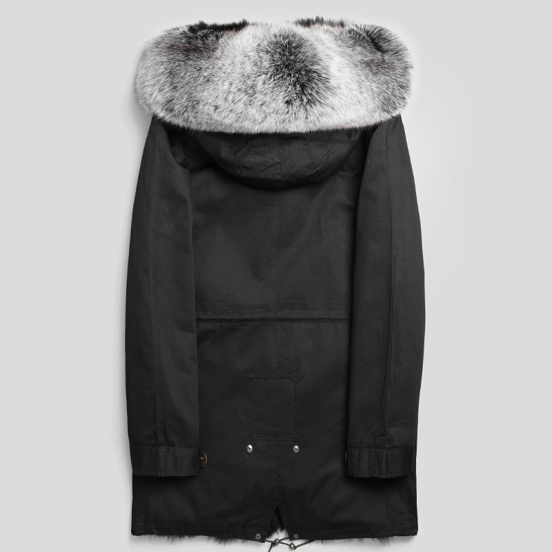 Parka Real Fur Coat Men Clothes 2020 Winter Jacket Real Fox Fur Liner Warm Parkas Plus Size Luxury Jackets P1888239