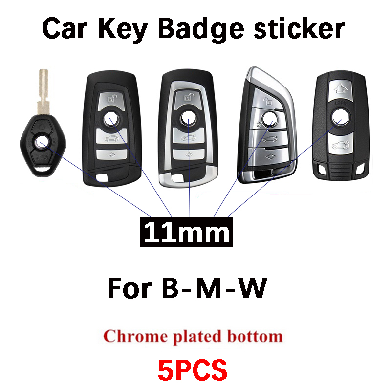 5 шт. 11 мм Эмблема для дистанционного ключа замена логотипа для BMW 3 серии 5 серии 7 серии e46 e90 e60 Z4 X3 X4 X5 X6 логотип автомобильного ключа