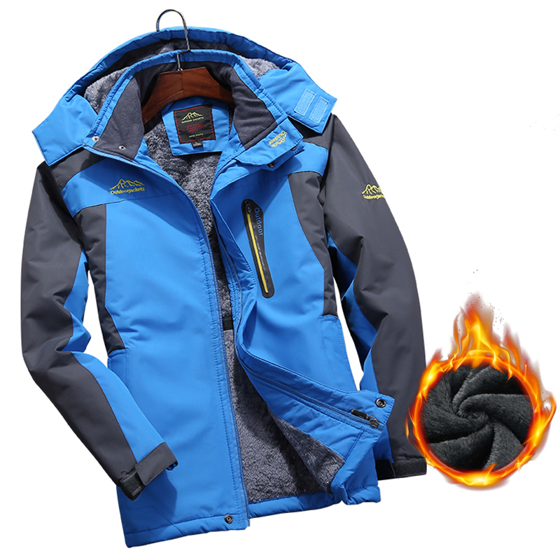 Ski Jackets Men Waterproof Windproof Fleece Snow Jacket Thermal Coat For Outdoor Hiking Jacket Camping Skiing Snowboard Jackets