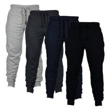 Tracksuit Bottoms Sportswear Jogger Trousers Black Skinny Fitness Men Casual Gyms