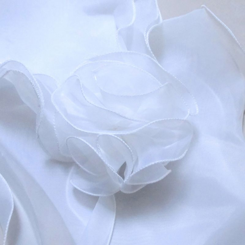 White Elegant Flower Multi Layer Tulle Shawl Wedding Wrap Bridal Chiffon Short Coat Fairy Marriage Accessories