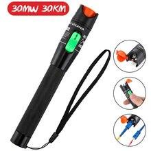 30mW FTTH Fiber Optic Tester Pen Tipo óptico A Laser Vermelho fiberLight 10mW Localizador Visual de Falhas Óptica Cable Tester 5-30Km Gama