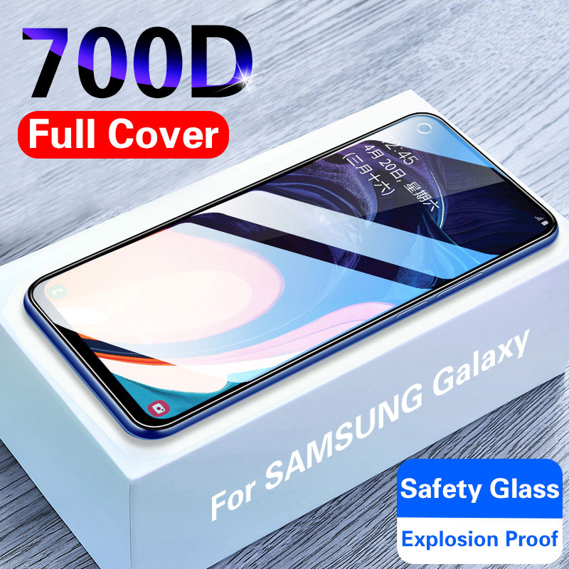 700D Full Cover Tempered Glass For Samsung Galaxy A10 A50 A70 Screen Protector Glass On For Samsung Galaxy A50 M30 A20 A30 A40