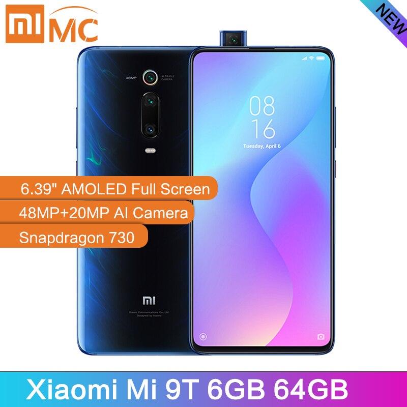 Nouvelle Version mondiale Xiao mi 9T 6GB 64GB téléphone Mobile Snapdragon 730 AI 48MP caméra arrière 4000mAh 6.39 AMOLED affichage mi UI 10