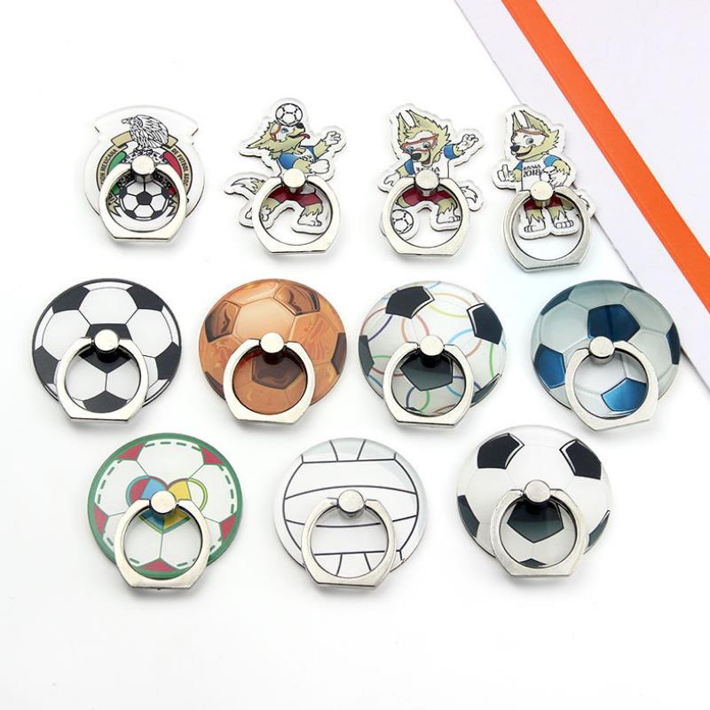 1pc New 360 Degree Mobile Phone Stand Holder Sports Ball Finger Ring Football Soccer Smartphone Holder Stand Figure Toys