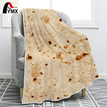 FYMX Mexican Tortilla Throw Blanket Printing Interesting Creative Soft and Comfortable Funny Flannel