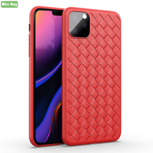 Soft Silicone TPU For Fundas iPhone 6 6S 7 8 PLUS Case Coque 11 Pro X XR XS Max Cover Woven Pattern Shell