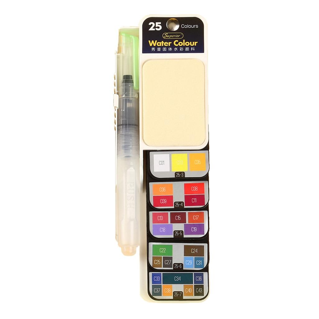 42/33/25 цветов Складная краска для путешествий Карманный акварельный