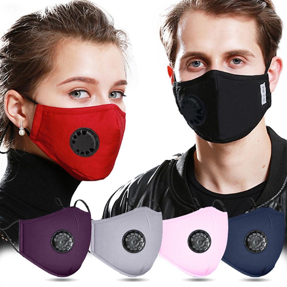 1pcs Reusable Face Masks Non Disposable Filter Mouth Mask Washable Cotton Mascarillas Health Mouth Cap Mondkapjes