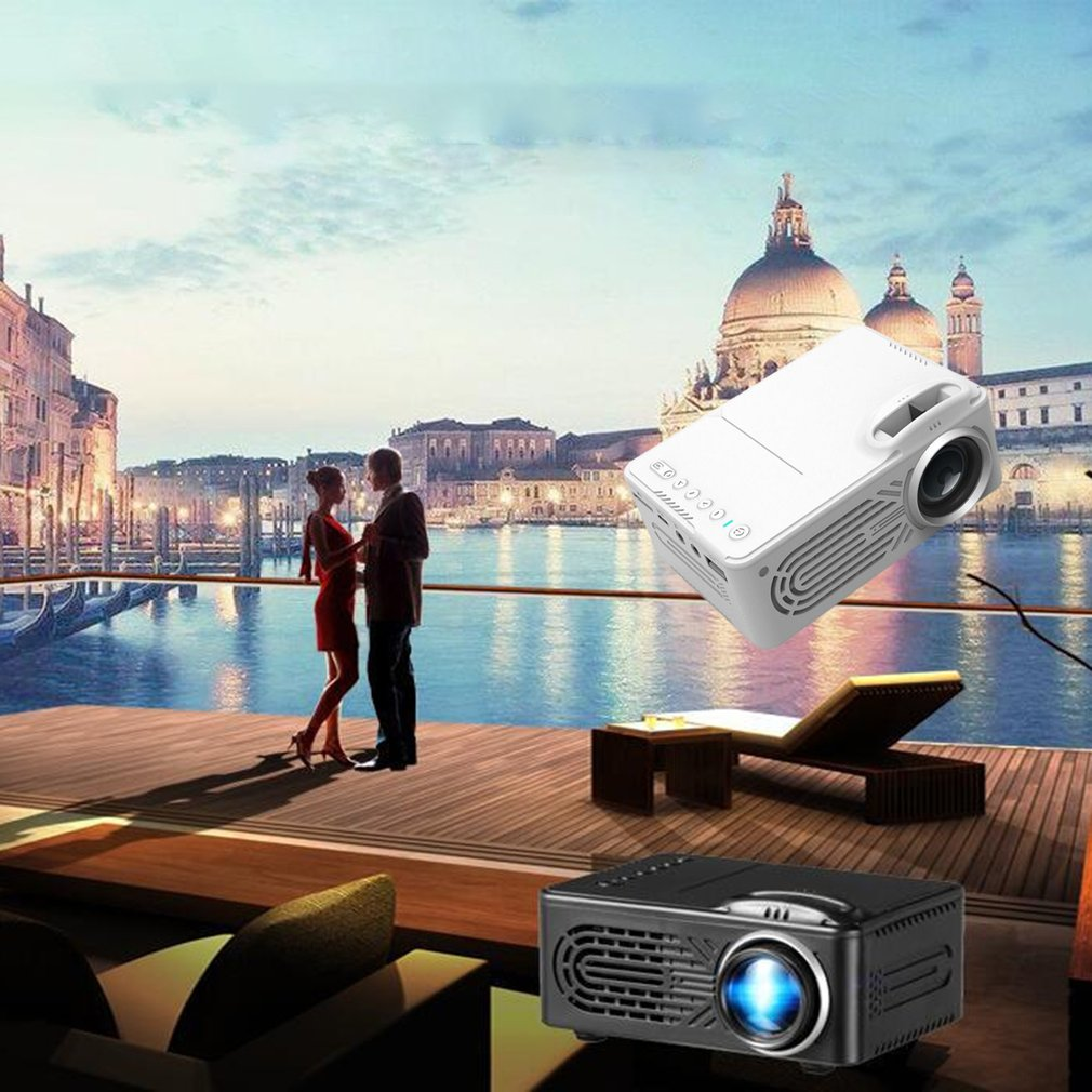 Branco 814 projetor portátil de alta definição 1080p hdmi projetor multi interface de cinema em casa projetor de vídeo-3