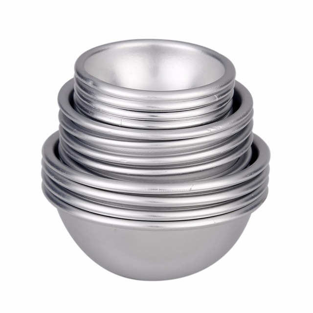 16pcs Semicircle Sphere Aluminium Alloy Bath Bomb Molds DIY Tool Bath Bomb Salt Ball Homemade Crafting Gifts Mold 1
