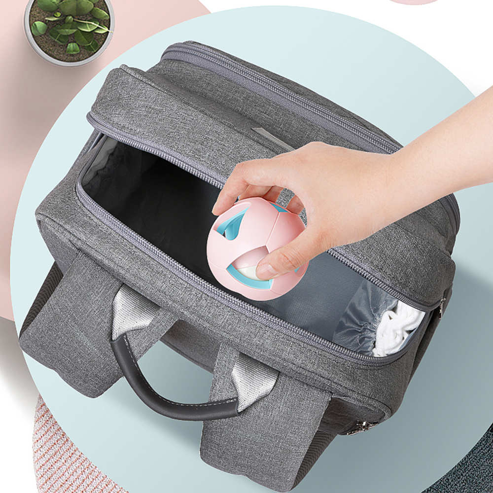 Disney New Fashion Diaper Bag Multi-Function Mother Bag For Nappy Baby Travel Backpack Large Capacity Maternity Backpack Gray