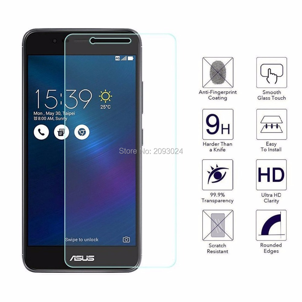 9H Tempered <font><b>Glass</b></font> For <font><b>Asus</b></font> <font><b>ZenFone</b></font> 3 Max ZC520TL Screen Protector On <font><b>ZenFone</b></font> 3 Max ZC520 TL <font><b>X008D</b></font> Protective Film Case Sklo Glas image