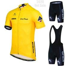 Strava ciclismo roupas dos homens conjunto de ciclismo roupas de bicicleta respirável anti-uv bicicleta wear/manga curta camisa de ciclismo conjuntos 2021
